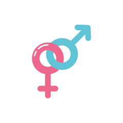 Isolated female and male symbol vector design