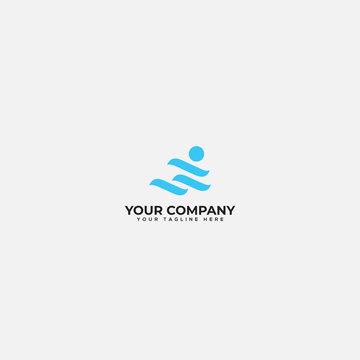 moving people logo, active logo, movement logo