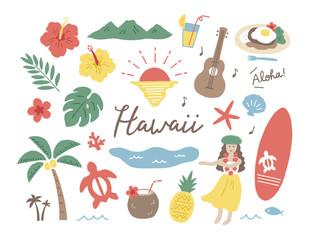 ハワイ手描き色々