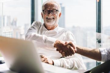 Business partnership successful meeting concept. Image businessman handshake. Business etiquette....