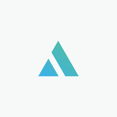 Initial letter A minimalist art logo with mountain concept. creative minimal logo summit design with letter A. elegant Logo template vector creative business. - VECTOR