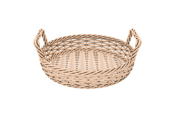 Rounded Wooden Basket