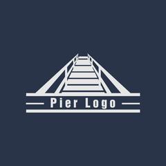pier logo design vector