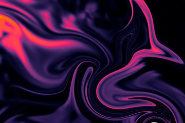 Abstract background of colorful liquid liner. Abstract texture of liquid acrylic. Wall mural