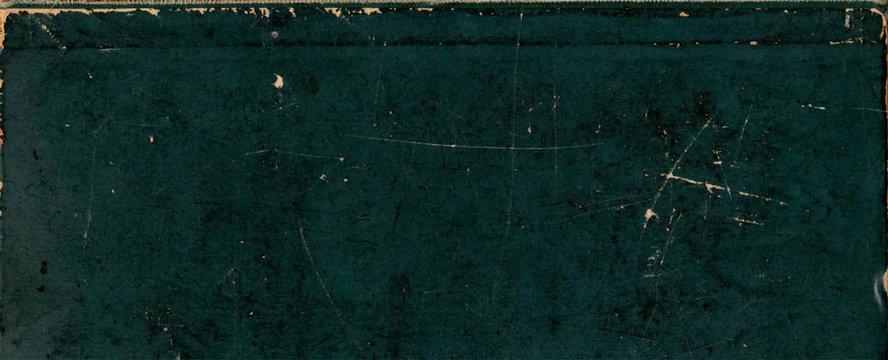 deep green vintage book paper grunge background texture