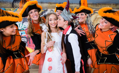 Kids as royal couple of German fasching