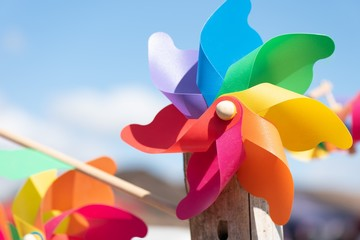 Colorful Windmills