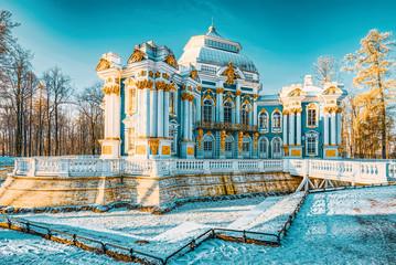 Hermitage Pavilion in Tsarskoye Selo (Pushkin) suburb of Saint Petersburg. Russia. Fototapete