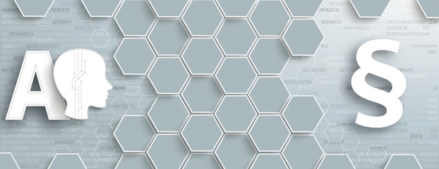 Gray Hexagon Structure AI Data Paragraph Header