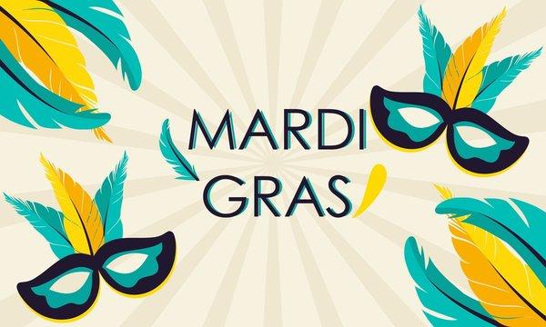 Mardi gras carnival party design. Fat tuesday, carnival, festival. Vector illustration