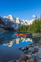 Printed roller blinds Canada Beautiful Moraine Lake at sunrise in Rocky Mountains, Banff National Park, Canada.