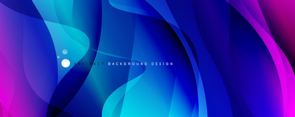 Fototapeten Abstrakte Welle Trendy simple fluid color gradient abstract background with dynamic wave line effect. Vector Illustration For Wallpaper, Banner, Background, Card, Book Illustration, landing page