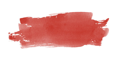 Watercolor red smear. Painted with a red paint symbol.