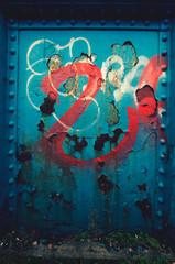 blue red graffiti