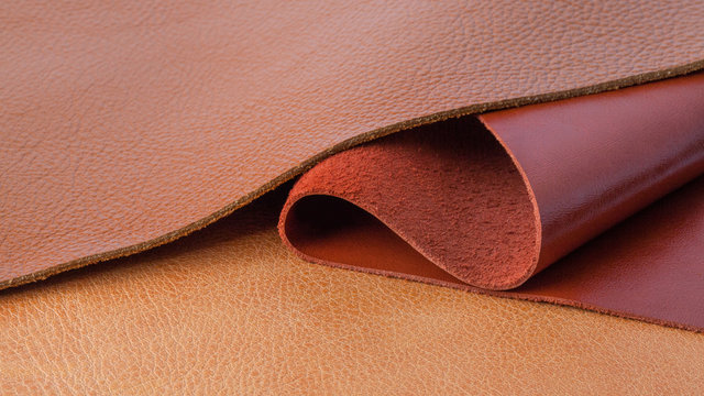 Natural leather textures samples