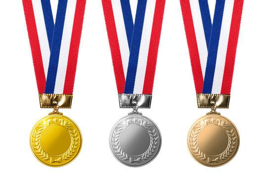 金、銀、銅のメダルのイメージ素材