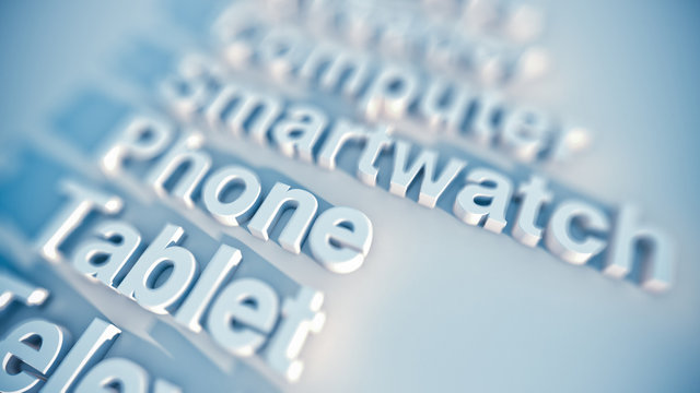 Digital devices as a checklist, word cloud