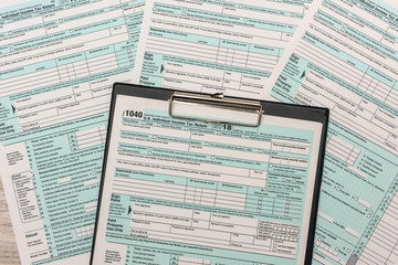 1040 individual us tax form with pen