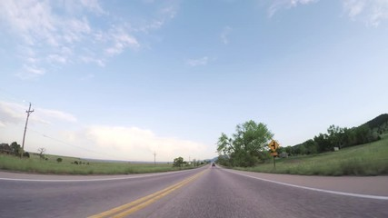 Wall Mural - Driving on paved road in Boulder area.