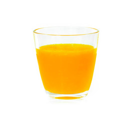 Foto op Canvas Sap orange juice on white background