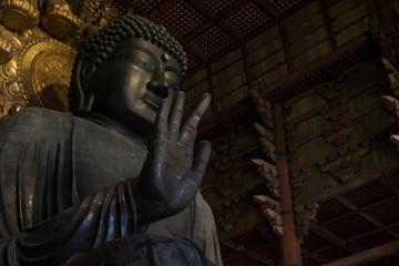 神々しいオーラを放つ奈良の大仏