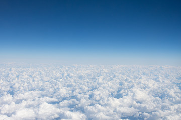 Foto op Aluminium Natuur Panorama from the heights of heaven above the clouds.