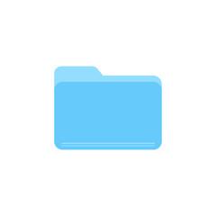 Blue folder flat vector icon isolated on a white background. - fototapety na wymiar