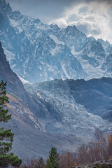 snowy mountains of the Caucasus.