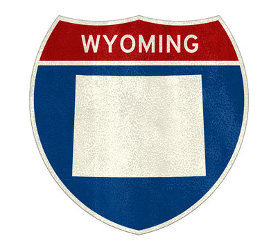 Wyoming State Interstate road sign