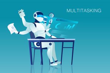 Vector of a multitasking robot