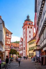 Poster Fleur Marktplatz und Rathaus, Mosbach, Deutschland