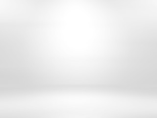 Gray white gradient empty studio room backdrop wallpaper abstract background blurred. use for showcase or product your. copy space for text