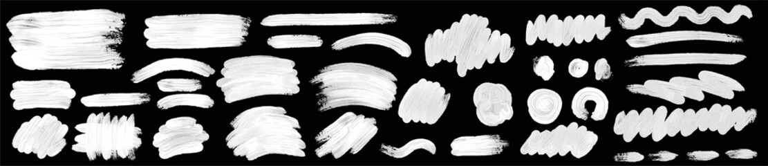 Brush paint hand drawn vector