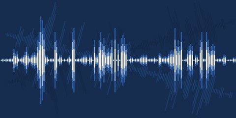 Audio sound wave graphics