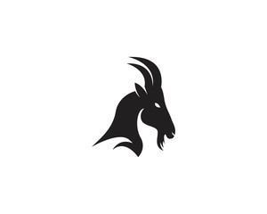 Goat head logo vector illustration