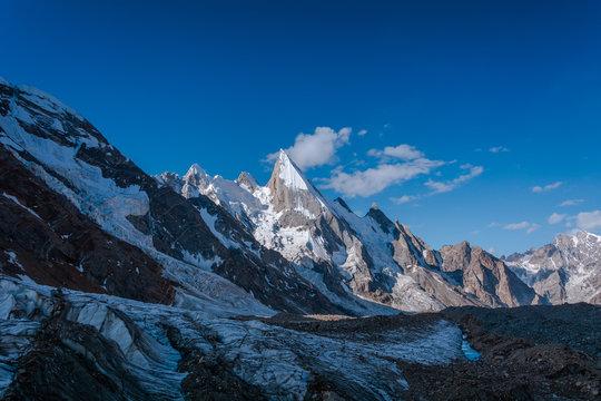 Laila Peak from Gondogoro Glacier nearby Khuspang Camp, Pakistan