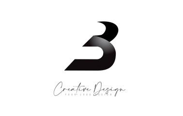 Minimalist B Letter Logo Design with Black Clean colors Vector.