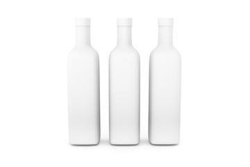 3D Illustration of Realistic Bottle on White