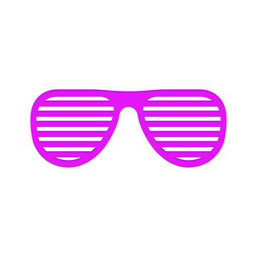 Vector illstration of shutter glasses on white background. Isolated.