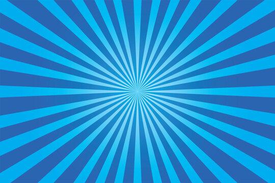 blue shiny starburst background. Vector illustration