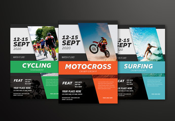 Sports Event Flyer Layout
