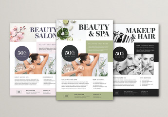 Beauty and Spa Flyer Layout