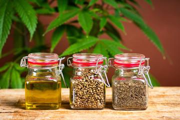 Cannabis seeds grain and oil