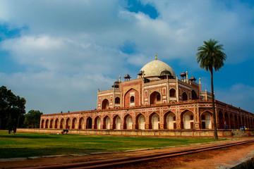 Autocollant pour porte Delhi The back of Humayu's Tomb