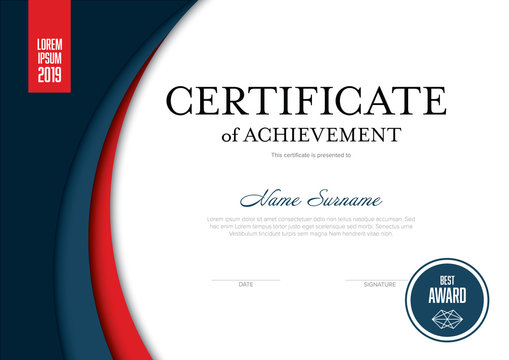 Solid certificate template