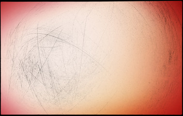 Abstract blurred light colored background, black scratches on light pink. For design.