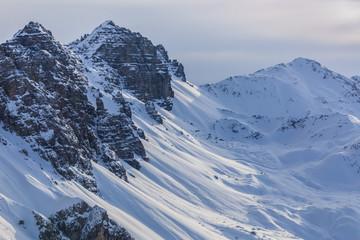 Fototapete - winter mountain landscape in Austria