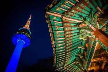 Foto op Aluminium Seoel Südkorea - Seoul - N Seoul Tower - Namsan Tower