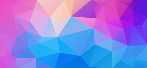 Flat abstract multicolor triangle geometric wallpaper for you design