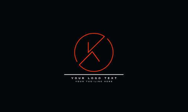 Abstract letter K, KK logo design. Creative,Premium Minimal emblem design template
